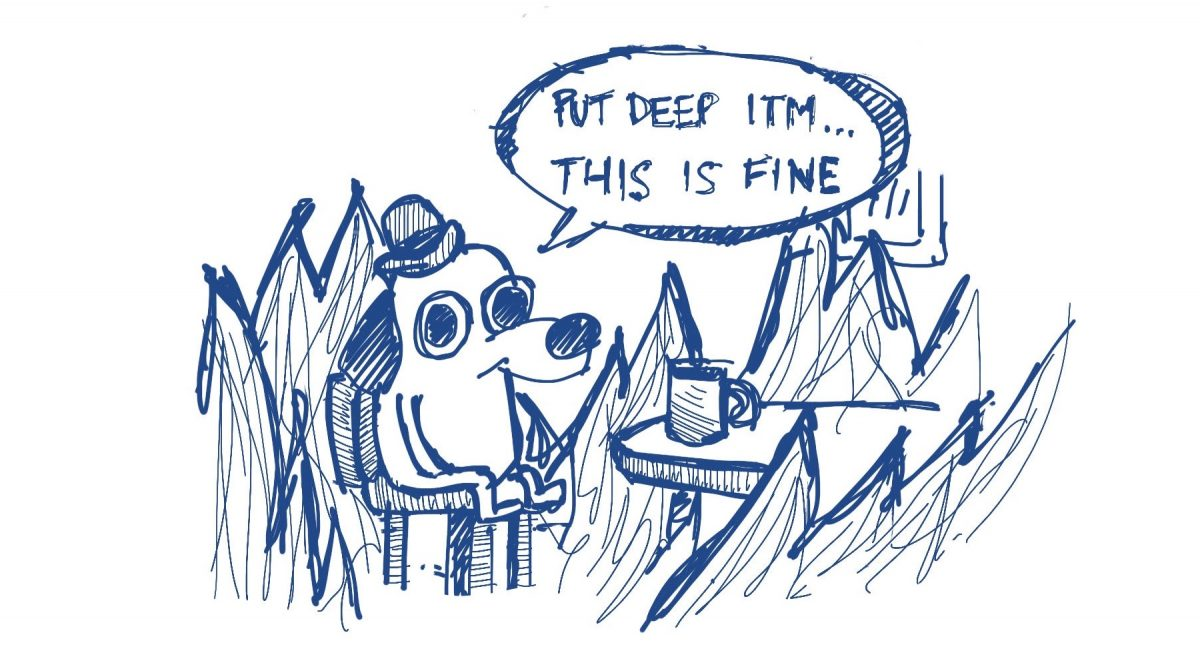 this is fine dog meme drawing